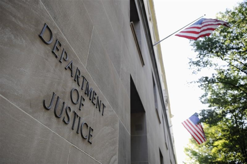 The exterior of the U.S. Department of Justice headquarters building in Washington. Photo: Reuters.