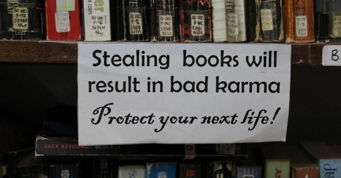 Stealing Books is Bad Karma at Pondok Pekak