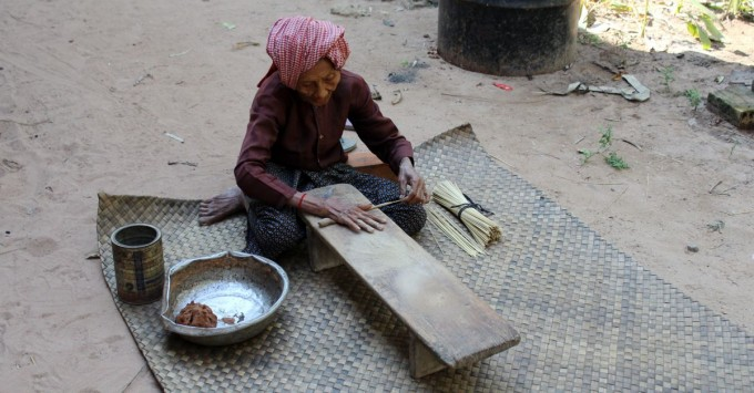 Cambodian incense maker
