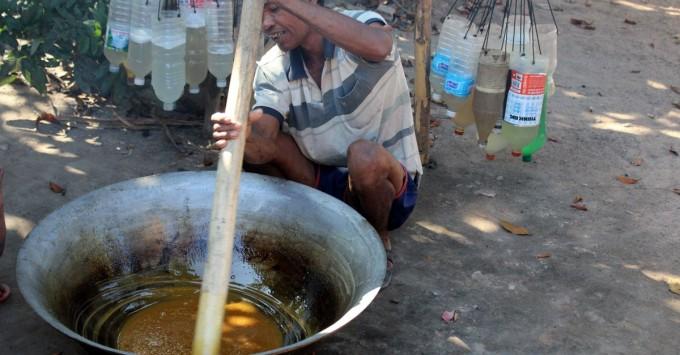 Mixing Palm Sugar