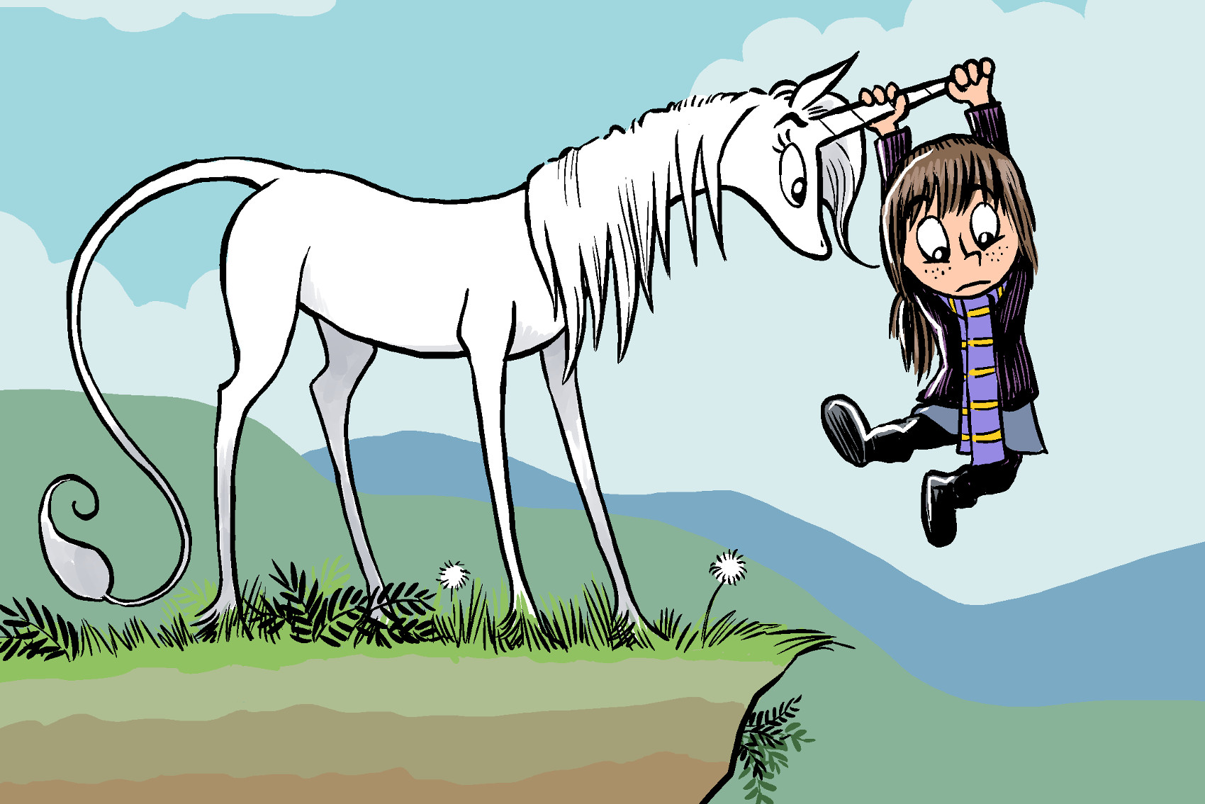heavenly nostrils if hobbes was a snarky unicorn and calvin was