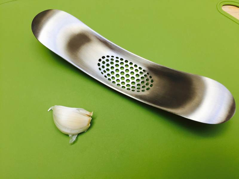 Still my favorite way to smash garlic into little juicy bits