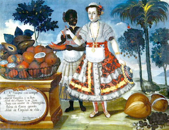 A-Distinguished-Woman-and-an-Enslaved-Woman-with-Various-Fruits-and-Vegetables-of-Ecuador002