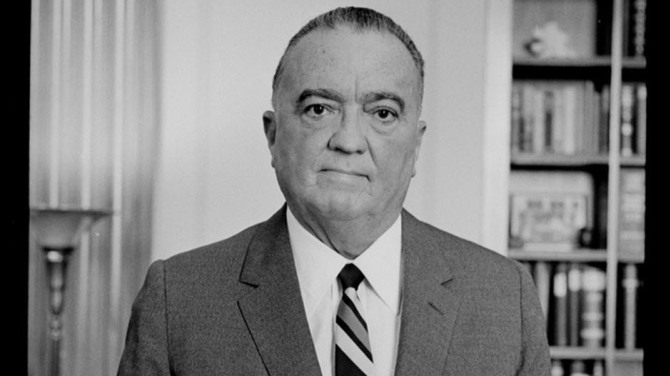 J. Edgar Hoover, the first director of the US FBI.
