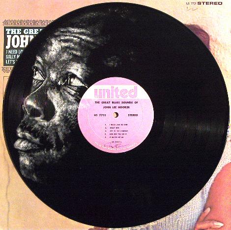 John Lee Hooker. Vinyl Art by Daniel Edlen.