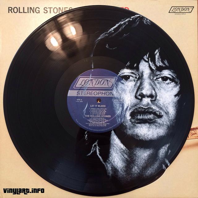 Mick Jagger. Vinyl Art by Daniel Edlen.