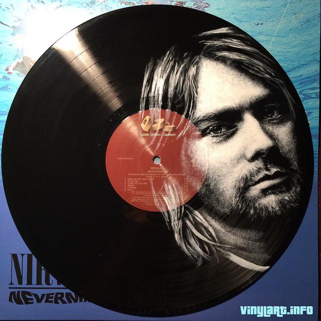 Kurt Cobain. Vinyl Art by Daniel Edlen.
