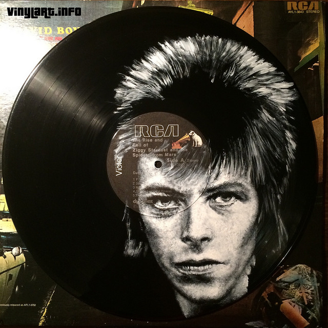David Bowie. Vinyl Art by Daniel Edlen.