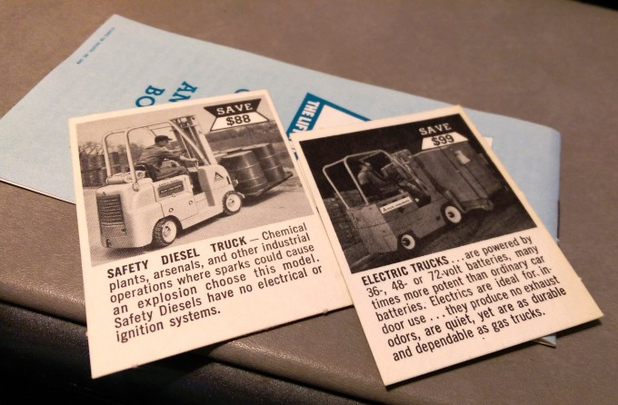 vintage hi-lo fork lift cards