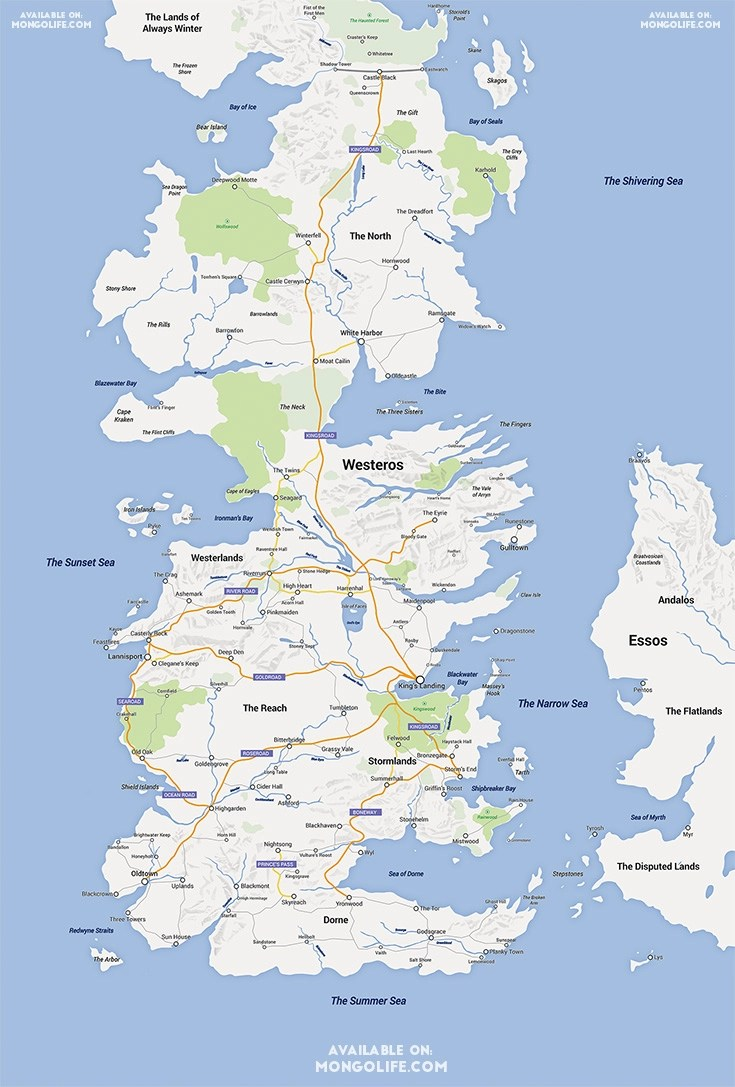 What westeros would look like in google maps boing boing forget george r r martins map book an etsy user called mongolife has reimagined the game of thrones continent of westeros in google maps gumiabroncs Image collections