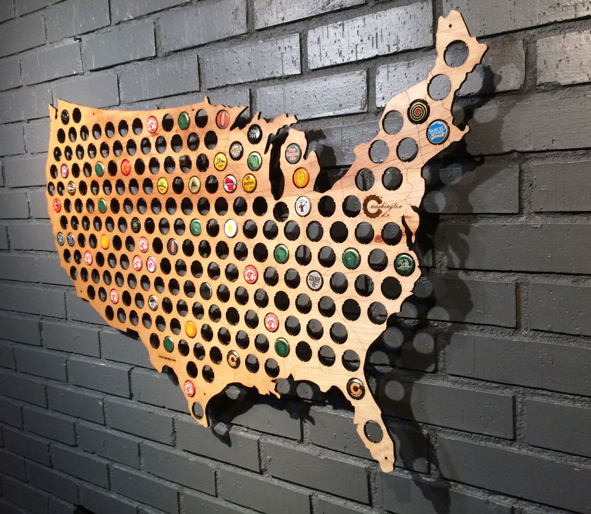 Beer Cap Maps Boing Boing - Us state quarter map holder