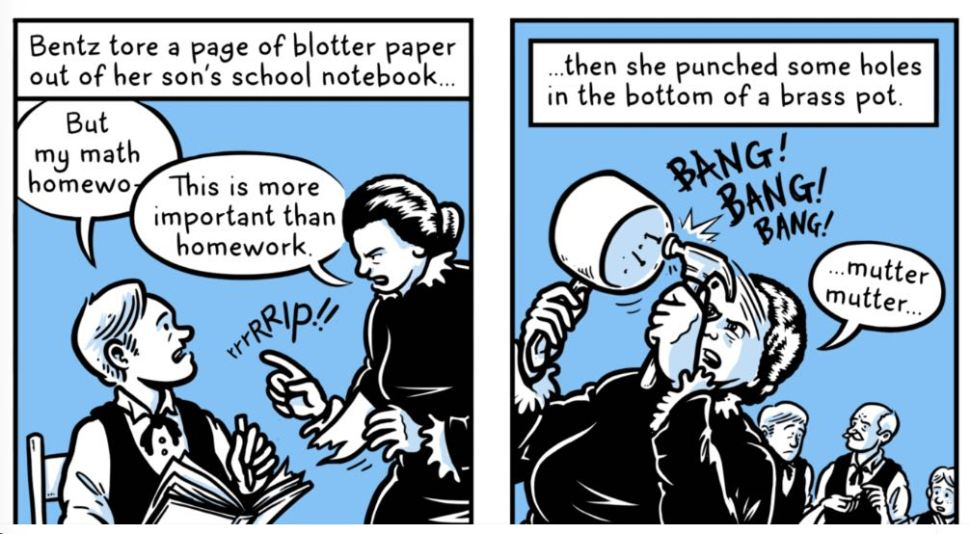 Over At Backchannel Comic Artist Andy Warners Illustrated The Story Of Melitta Bentz A German Housewife Who In 1908 Invented Coffee Filter