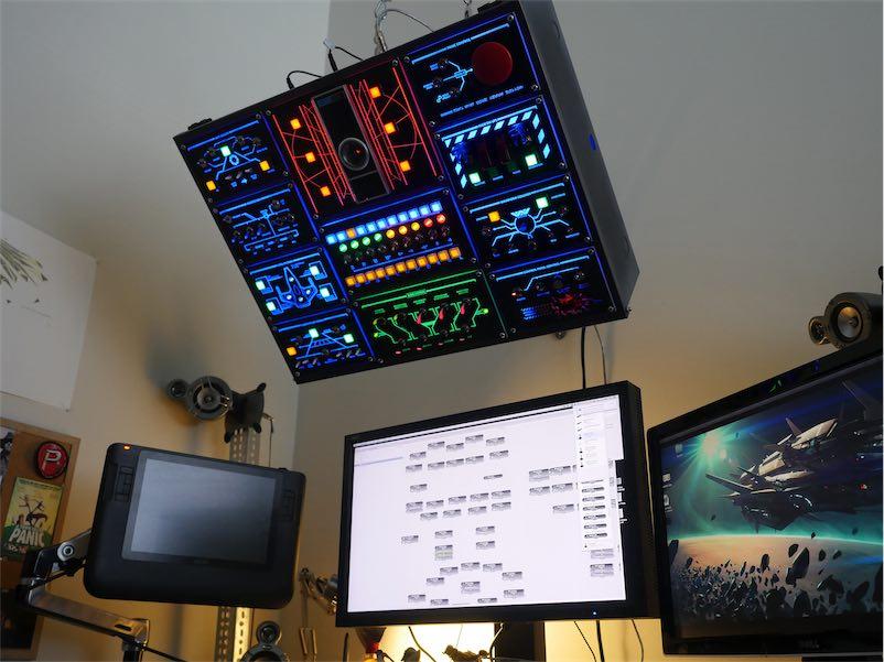 Amazing DIY computer control panel