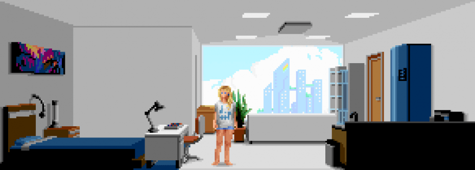 Pixel Art Academy Dorm Room