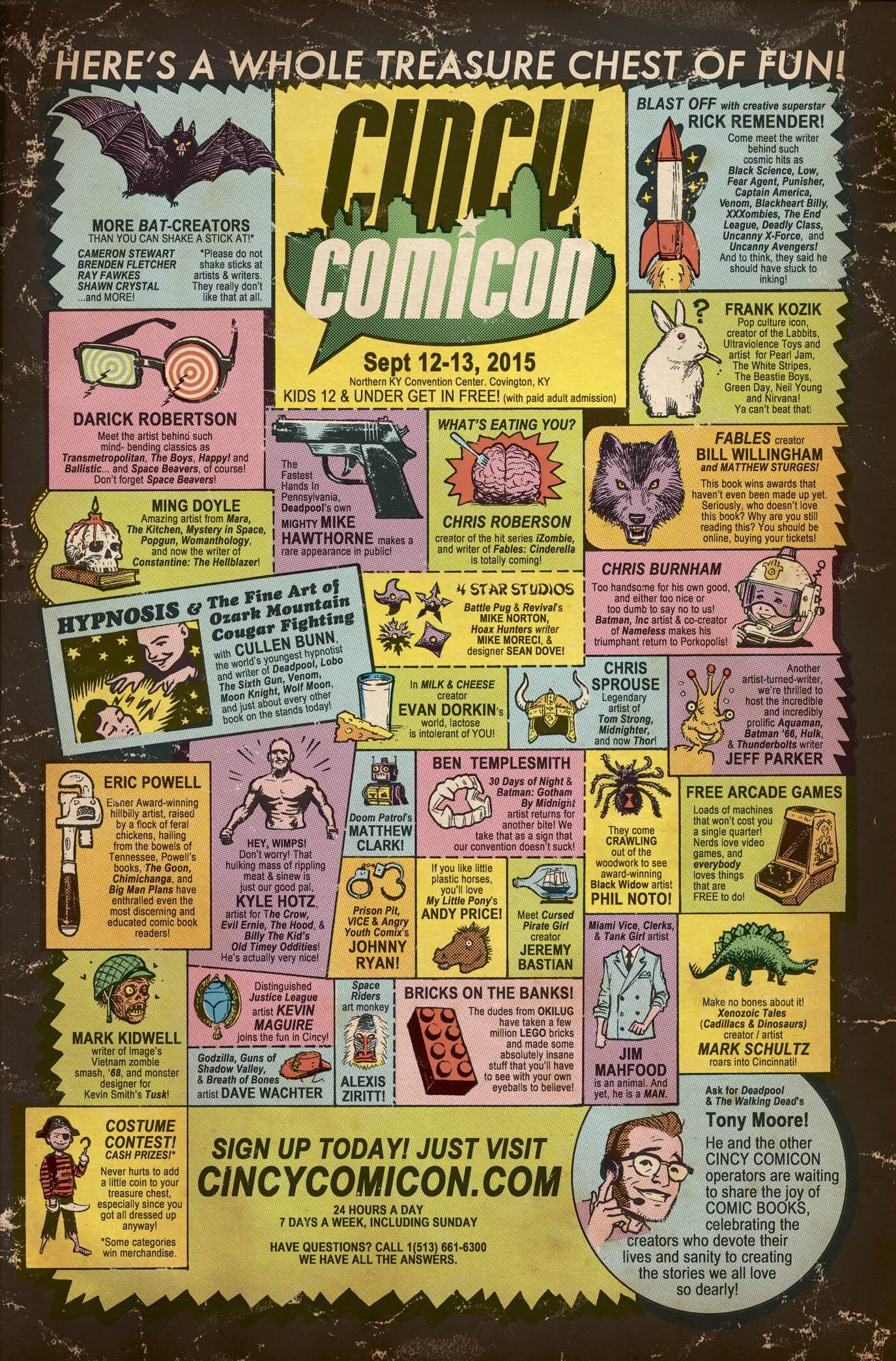 This Poster For The Cincy Comicon Pays Homage To Old Comic Book Ads