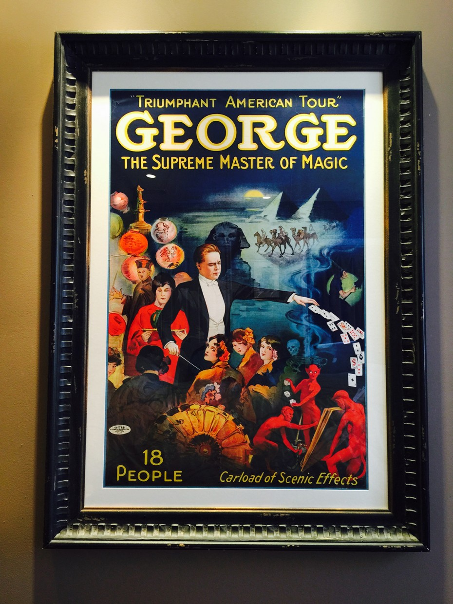 Poster George Supreme Master of Magic Magician Picture HUGE Otis Lithograph Co