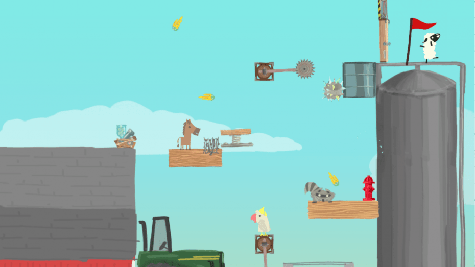 Ultimate Chicken Horse is like Mario Maker for asshole