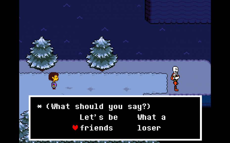 In Undertale, you can choose to kill monsters — or