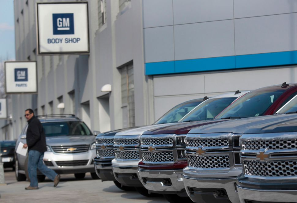 A GM dealership in Detroit, Michigan [Reuters]