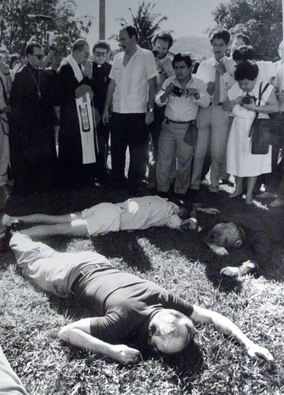 File photo showing part of the scene where six Jesuit priests and two assistants were assassinated on November 16, 1989 in San Salvador.