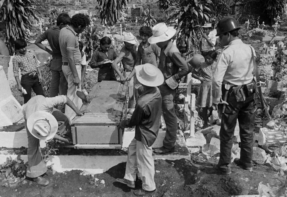 Exhumation of one of the bodies of the the four U.S. nuns and one lay worker who were raped and murdered by Salvadorean soldiers on December 2, 1980 during the civil war. REUTERS