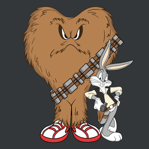 T-shirt: Bugs And Gossamer As Han And Chewy / Boing Boing