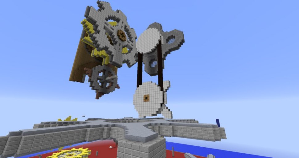Image: Work in progress from a Camp Minecraft student