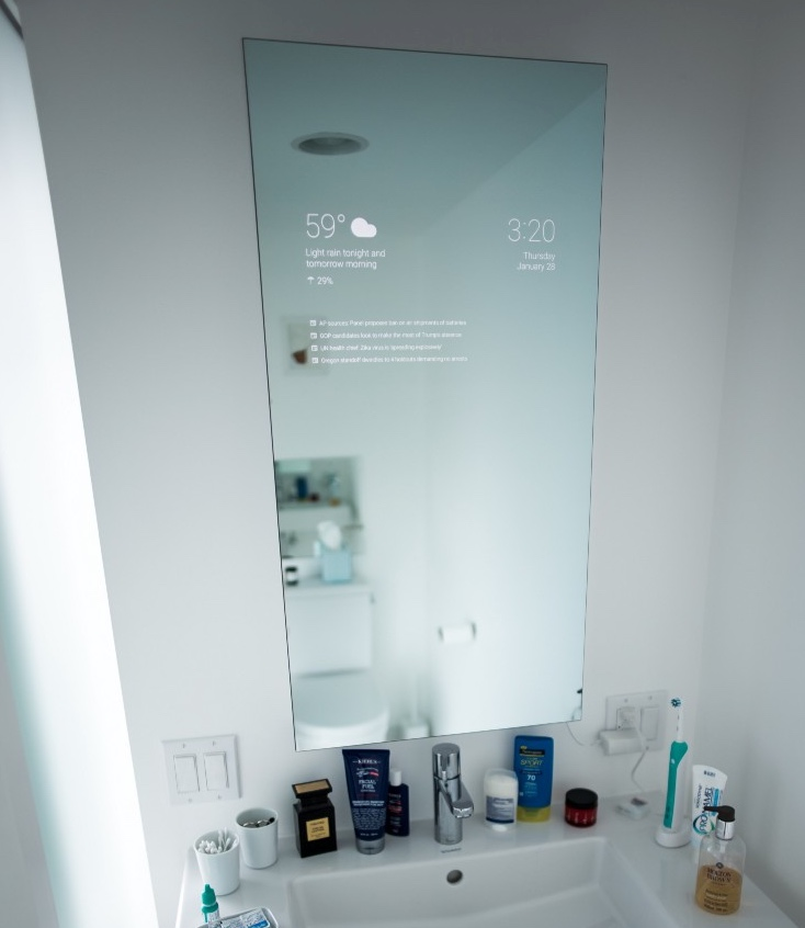 DIY smart bathroom mirror