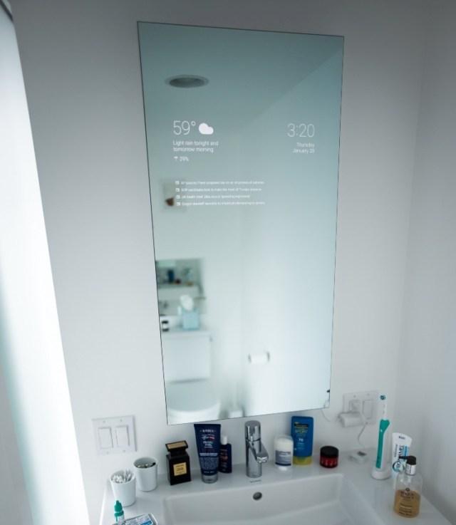 DIY smart bathroom mirror