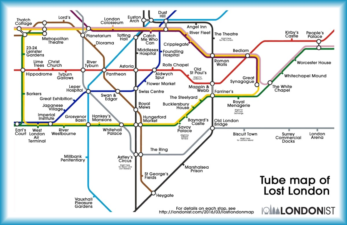 Tube Map Of Quot Lost Quot London Boing Boing