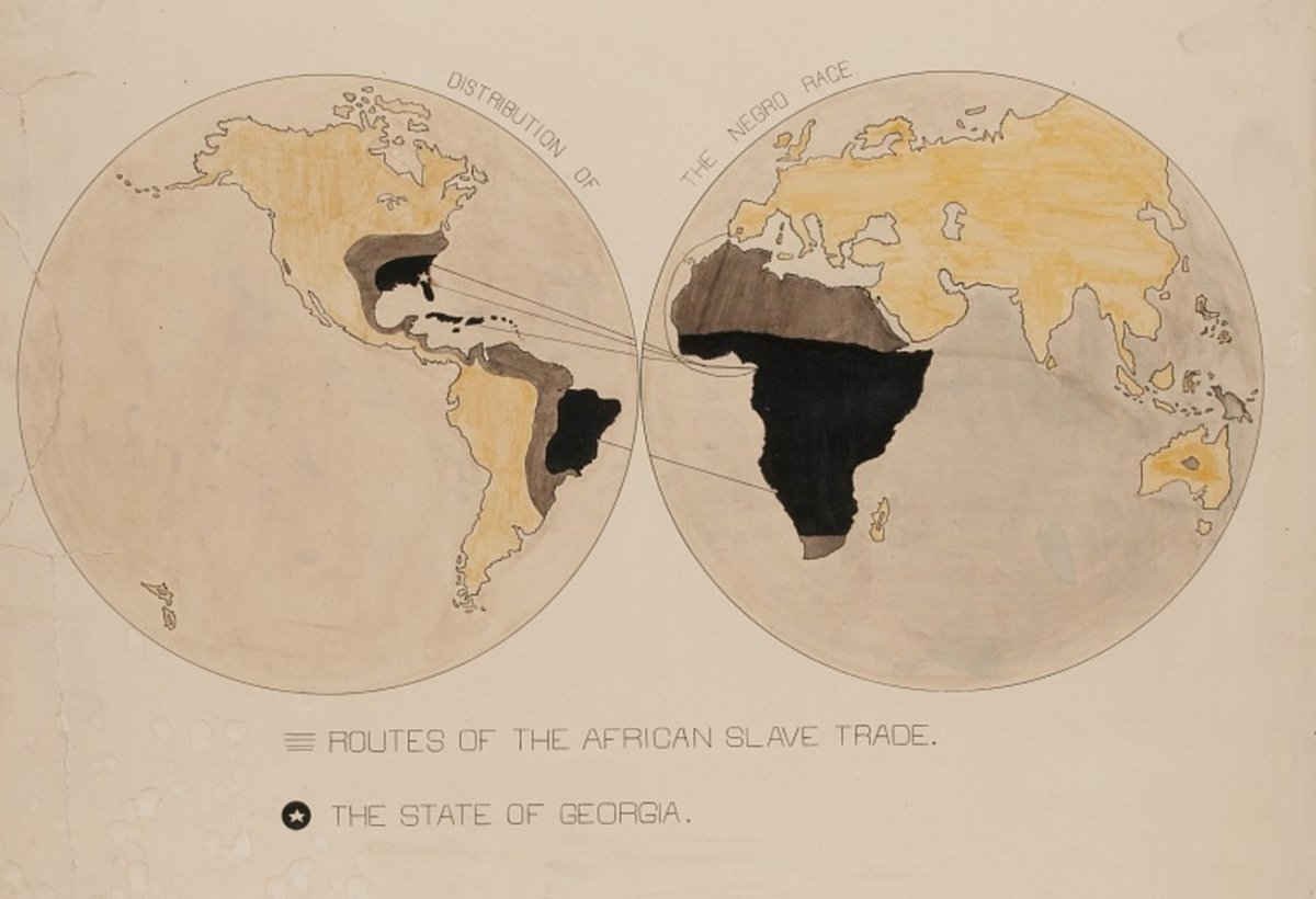 WEB Du Bois's infographics on black life, from the 1900 Exposition Universelle