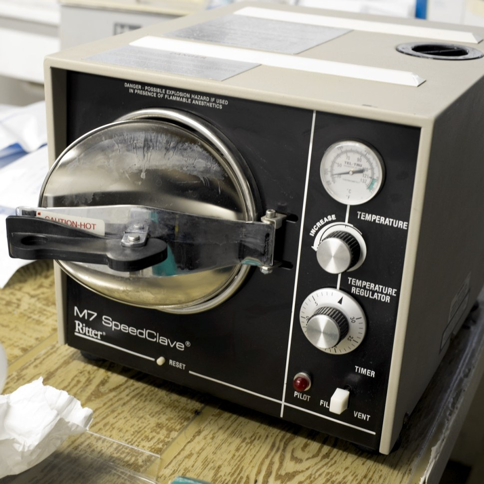 Autoclave: this is a legit operation. Photo: Katherine Leipper
