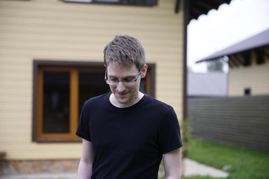 "Edward Snowden in ""Citzenfour,"" a documentary by Laura Poitras"