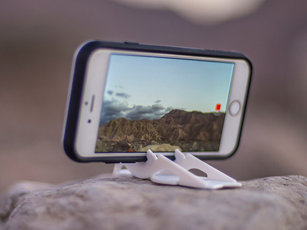 This smartphone tripod is a thoughtful piece of industrial-design origami