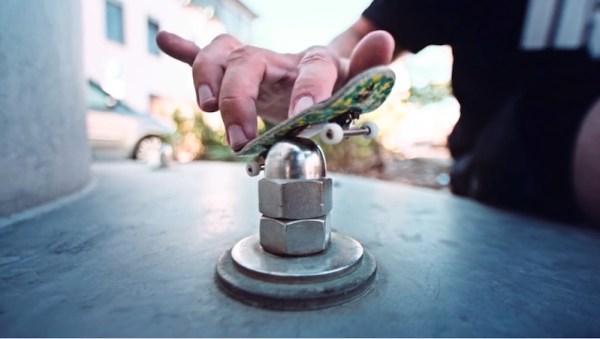 Enter the dangerous world of finger skateboarding