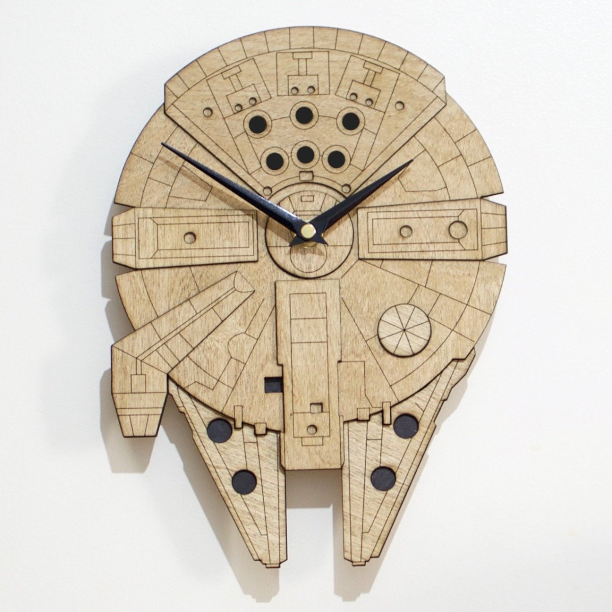 Laser Cut Wall Mounted Millennium Falcon Clock Boing Boing