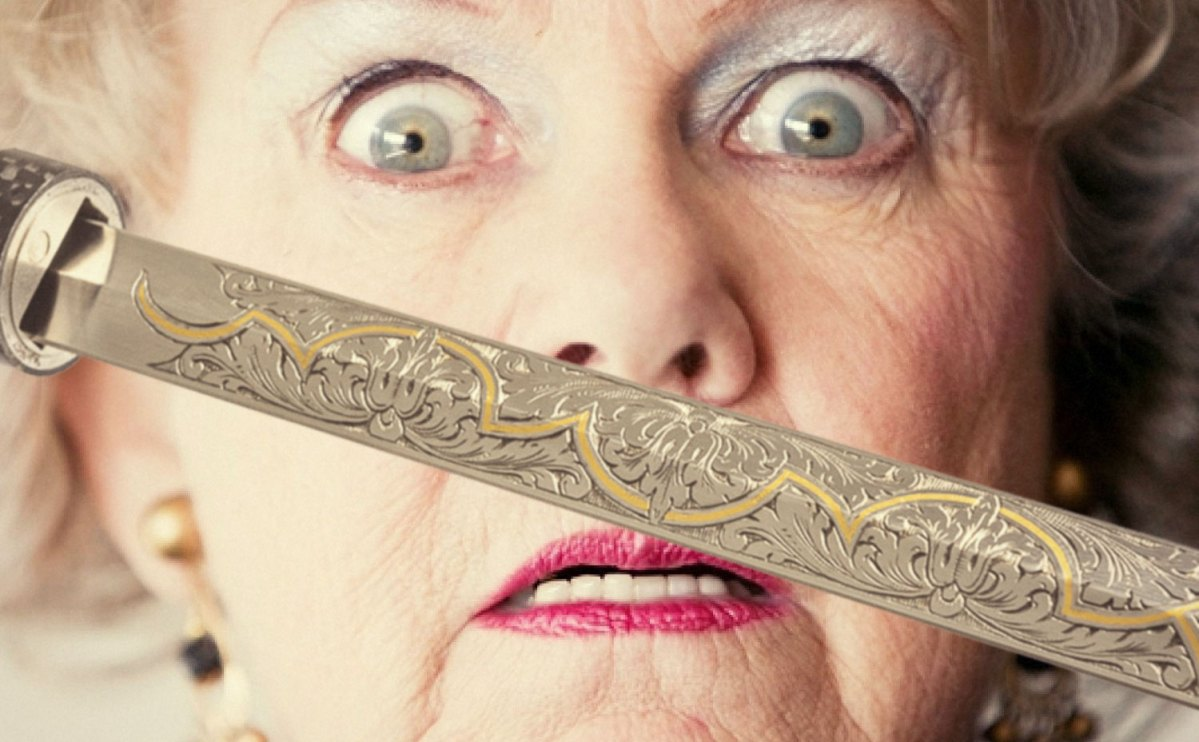 80-year-old lady surprised when TSA finds sword inside her walking cane