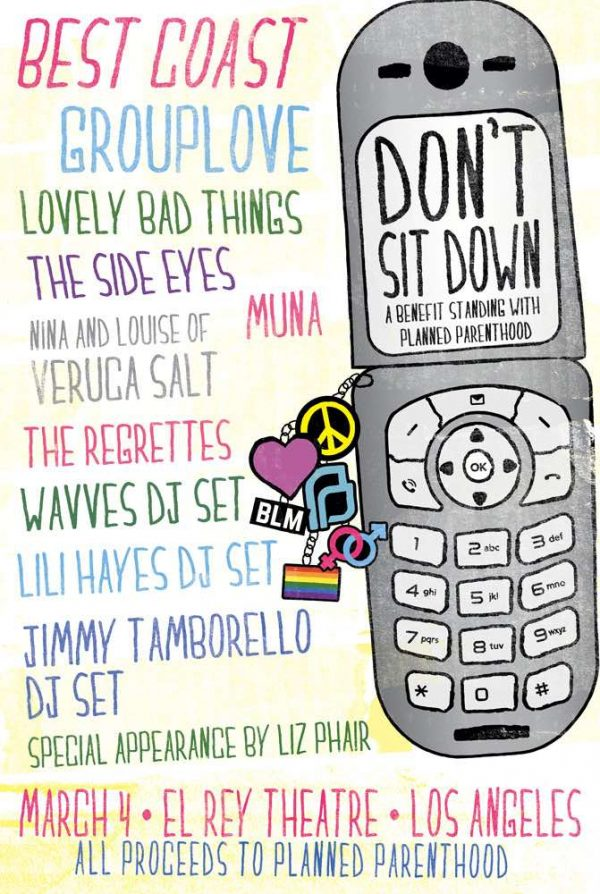 Best Coast benefit for Planned Parenthood this Sat (3/4) in
