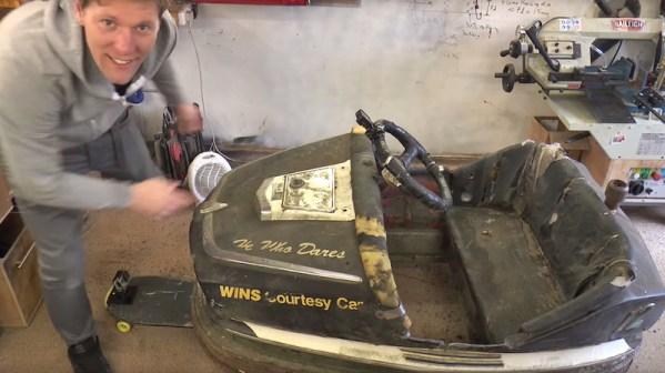 Watch Colin Furze mod a bumper car with a huge engine