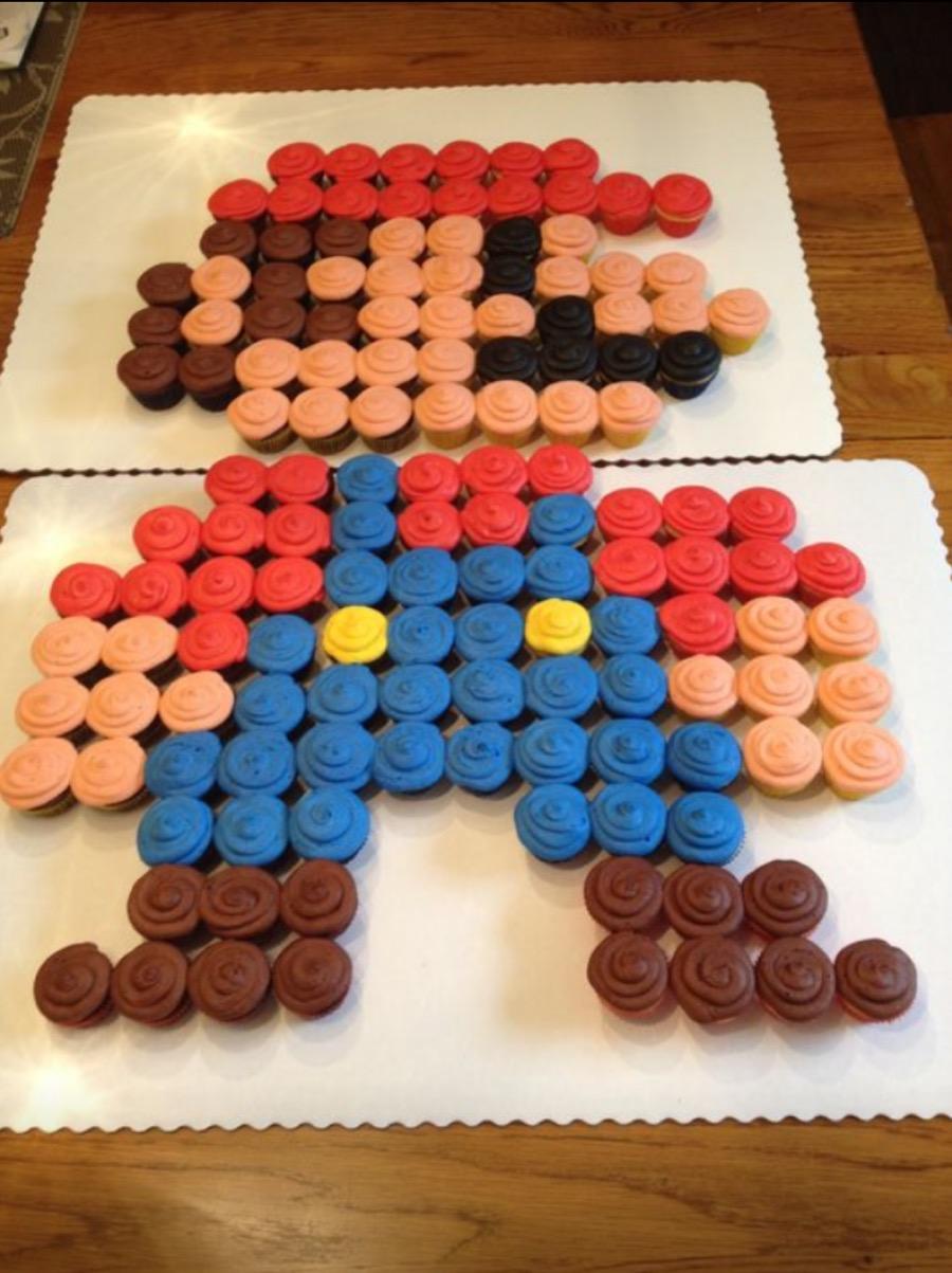 Super Mario 8 Bit Cupcake Arrangement Expectations Vs