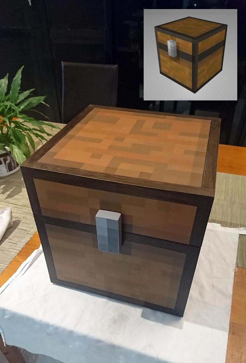 How To Make A Real Life Minecraft Chest Boing Boing