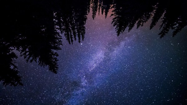 Night sky time lapses, but with the ground spinning instead of the stars