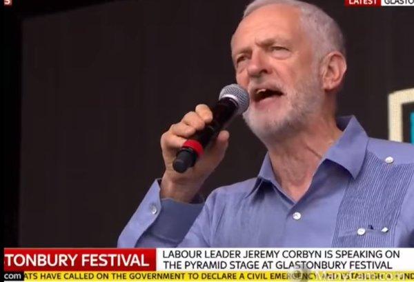 Watch: Jeremy Corbyn addresses Glastonbury