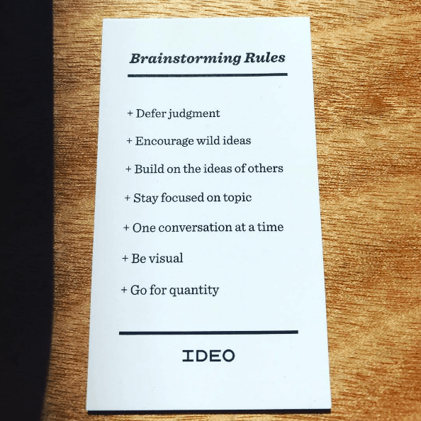 The rules of brainstorming, according to top design firm IDEO