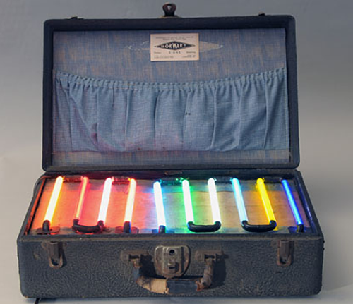 A Traveling Neon Salesman S Sample Case 1935 Boing Boing