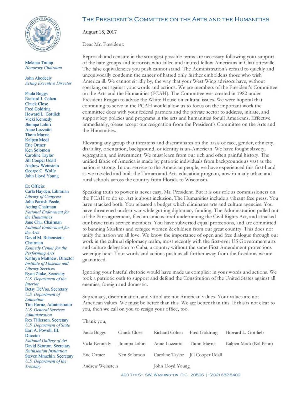 Hidden Message In Mass Resignation Letter From President Trumps