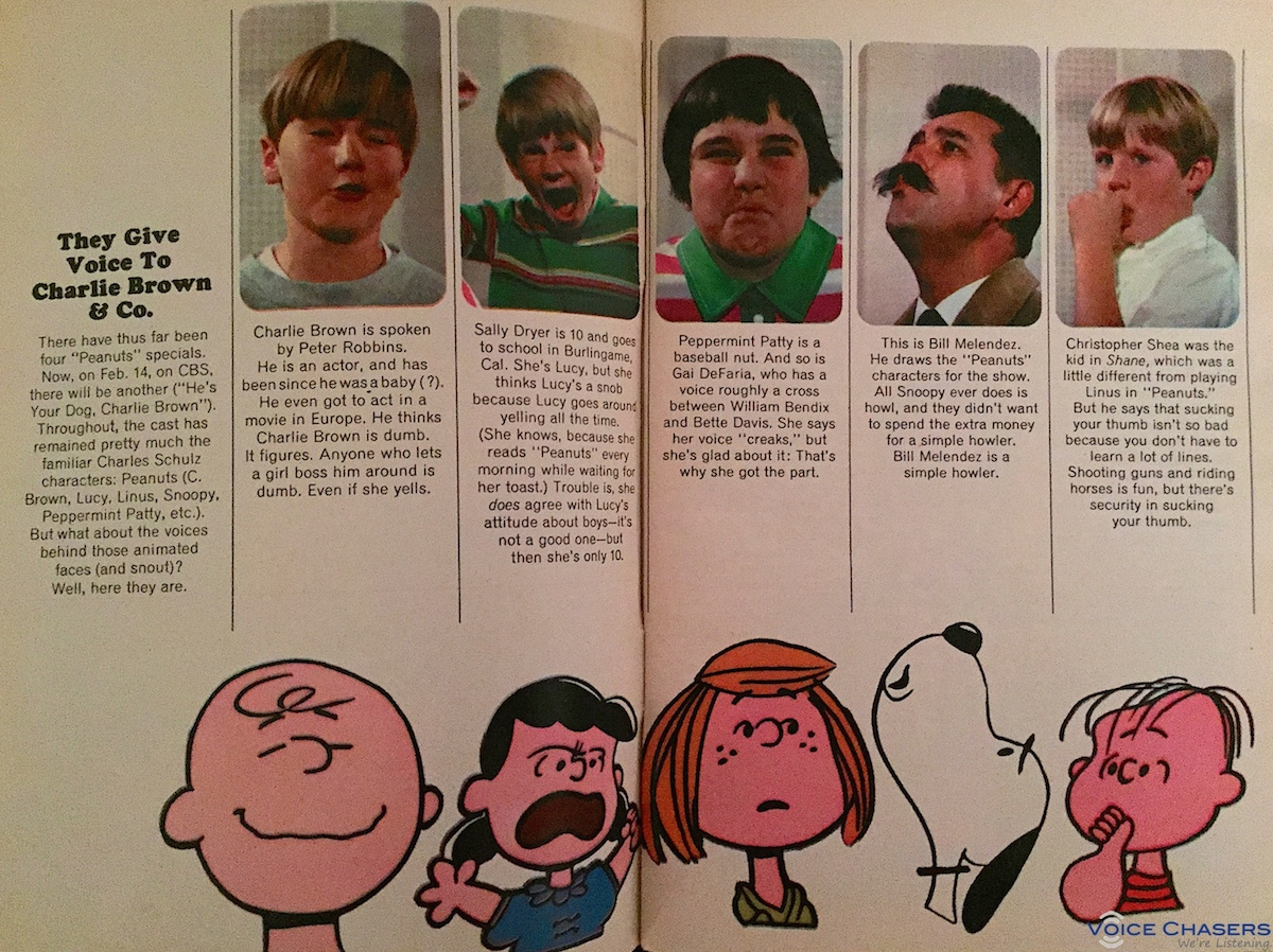 The voice actors behind the Peanuts gang (1968) / Boing Boing