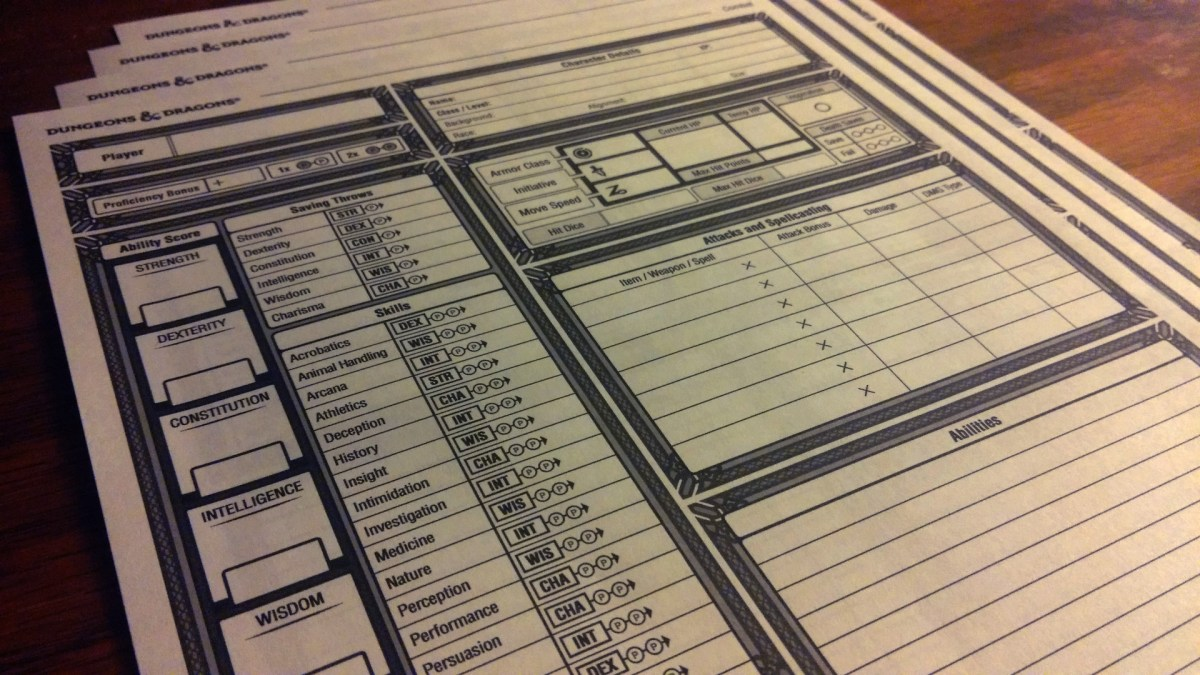 Gorgeous, free, and downloadable DnD Character Sheets