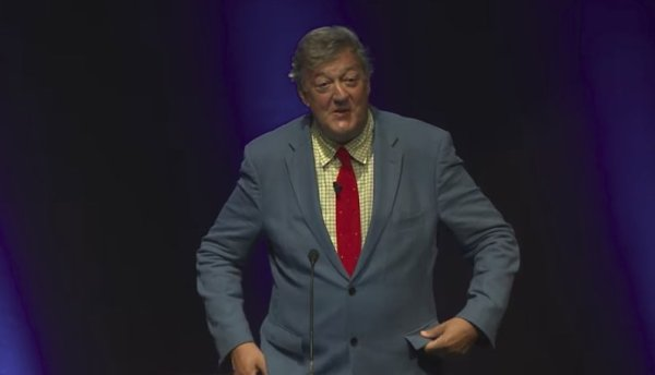 Stephen Fry's lecture on a hopeful, cautious, excited vision of a better technological world