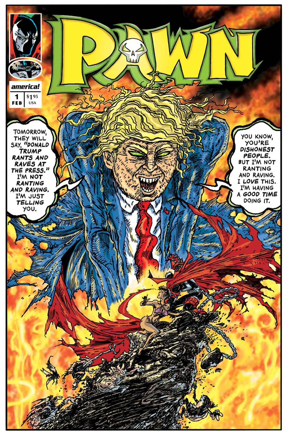 How To Make A Comic Book Cover In Photo : Trump s dumbest utterances presented as comic book covers